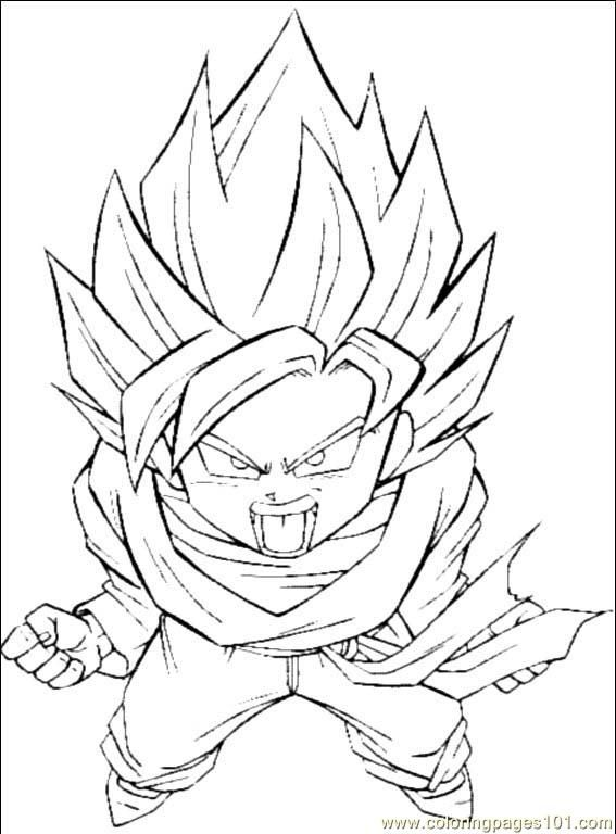 Dragon Ball Z Printable Coloring Pages - http://freecoloringpage ...