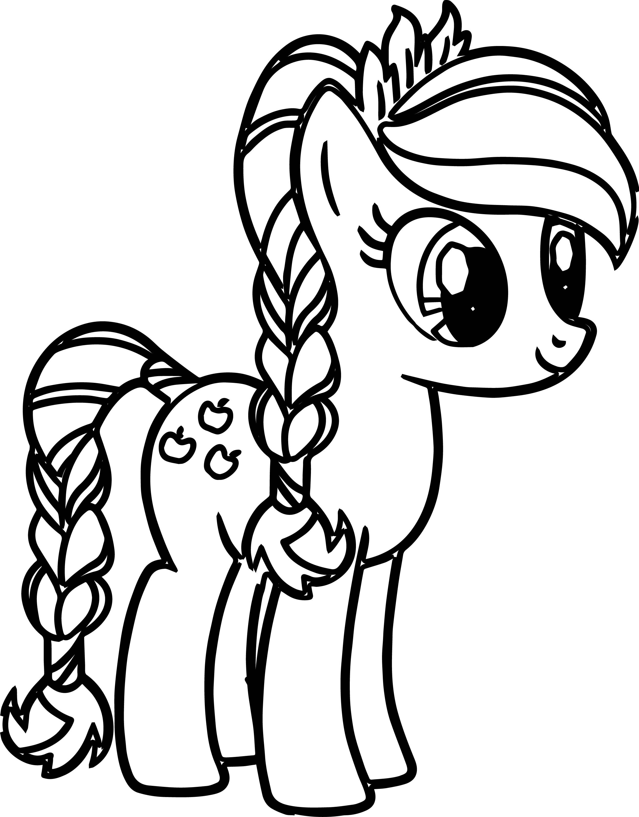 Pony Cartoon My Little Pony Coloring Pages With Images Unicorn