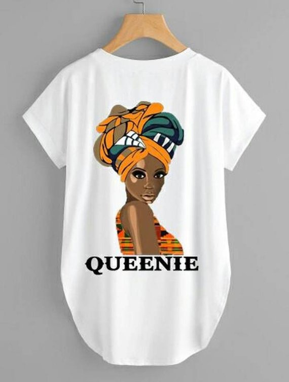 856d7661dd6 Afrocentric Queenie Female Tunic Tee Shirts in 2019