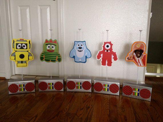Yo Gabba Gabba Centerpieces by FUNmemorie on Etsy, $55.00