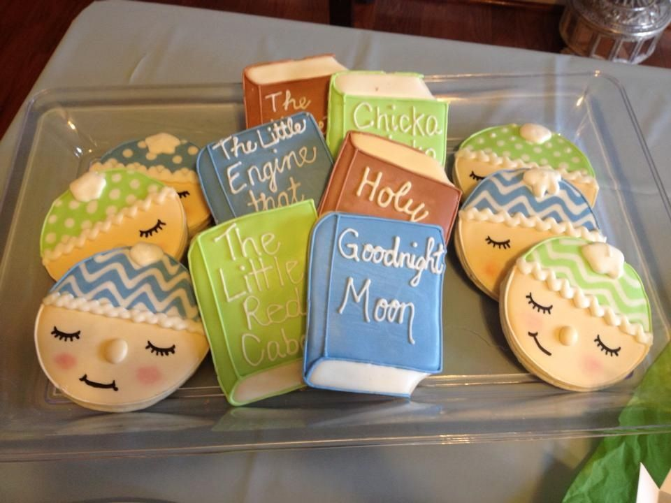 Book Theme Baby Shower Cookies