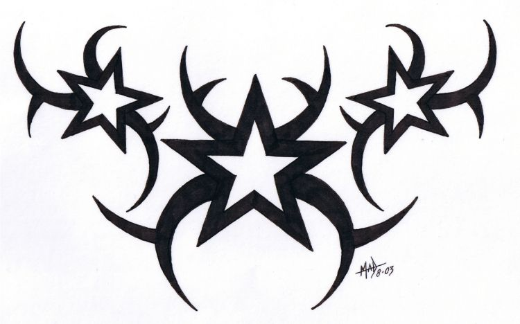 Star Tribal Tattoo By Madtattooz On Deviantart Tribal Tattoos