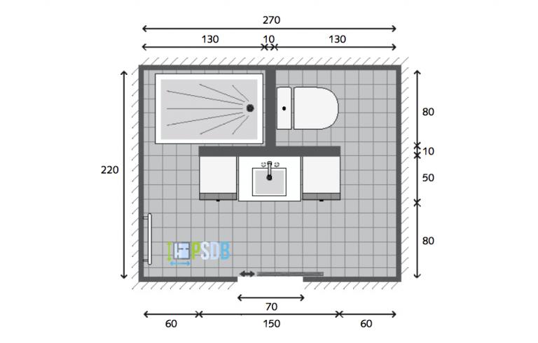 Exemple Plan De Salle De Bain De 5 9m2 Smallbathroomblueprints Bathroom Plans Bathroom Floor Plans Bathroom Layout