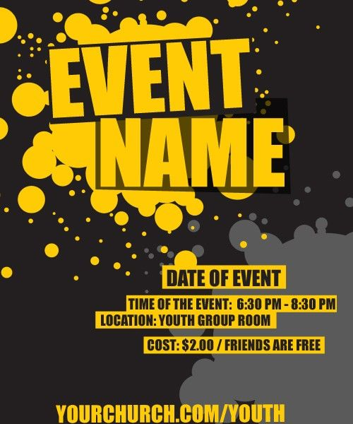 Youth Pastor Church Nite: Event Template, Event Flyers, Youth