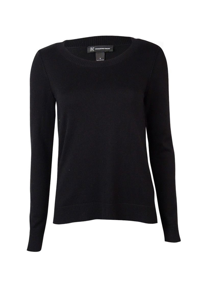 INC International Concepts Women's Inverted Seam Sweater