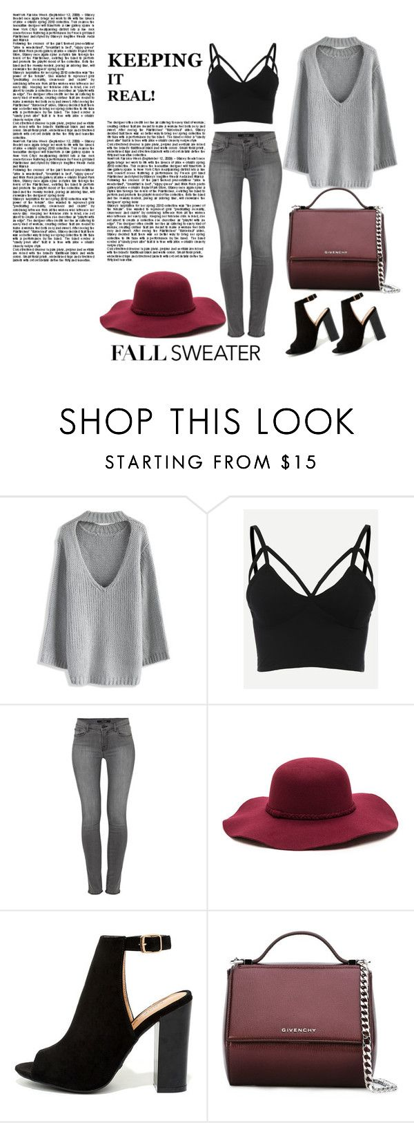 """""""Sweater weather"""" by oneluvlyn ❤ liked on Polyvore featuring Chicwish, J Brand, Bamboo and Givenchy"""