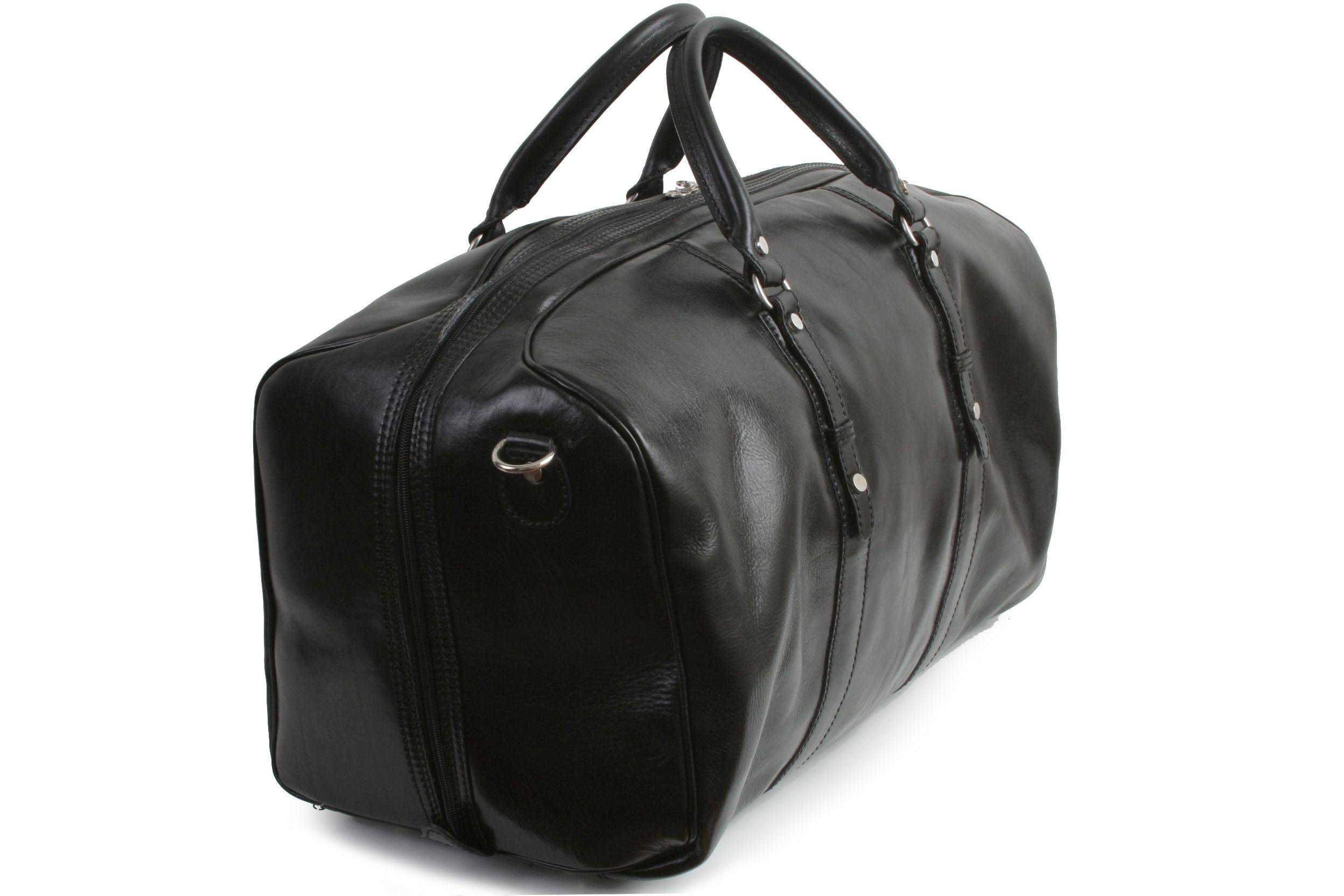 da05389c0a Marco Polo Black leather travel bag - hardtofind.