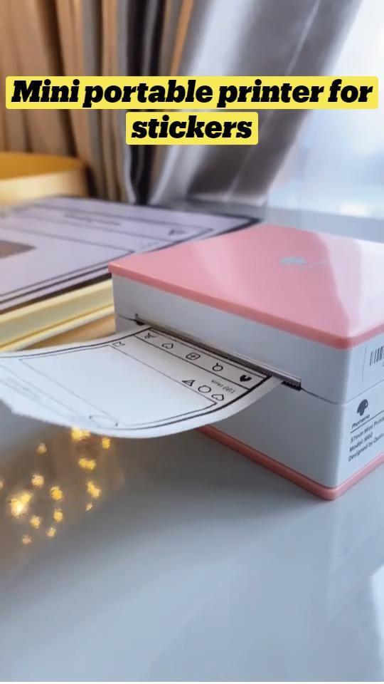 Mini portable printer for stickers