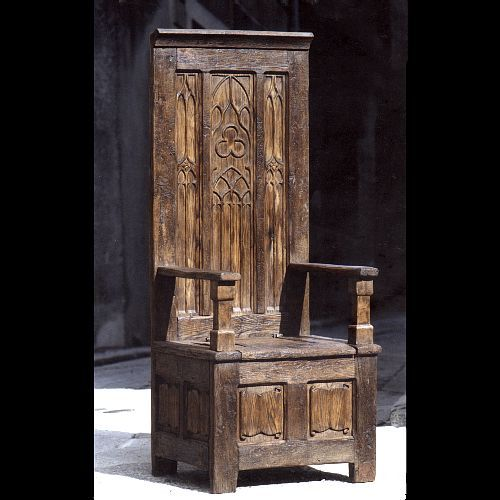 This is an example of a Medieval throne in the Middle Ages ...