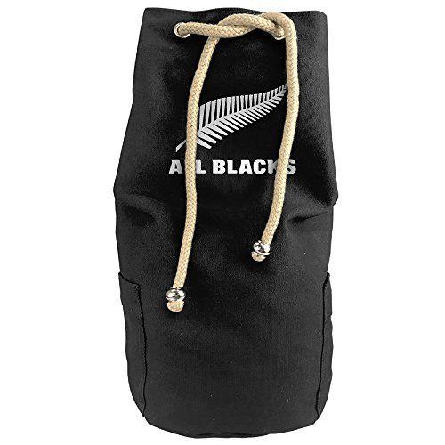 Large All Blacks Feather Logo Backpack Bag Rope Drawstring Closure Round Bucket Bag