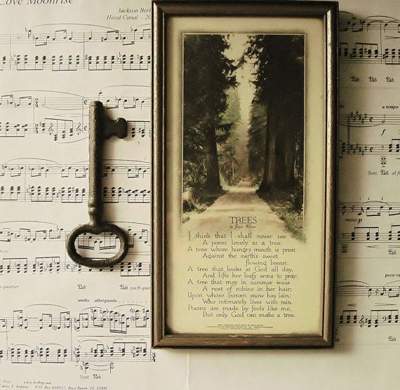 A Nest of Robins In Her Hair ~ Framed Vintage Tree Poem, Joyce ...