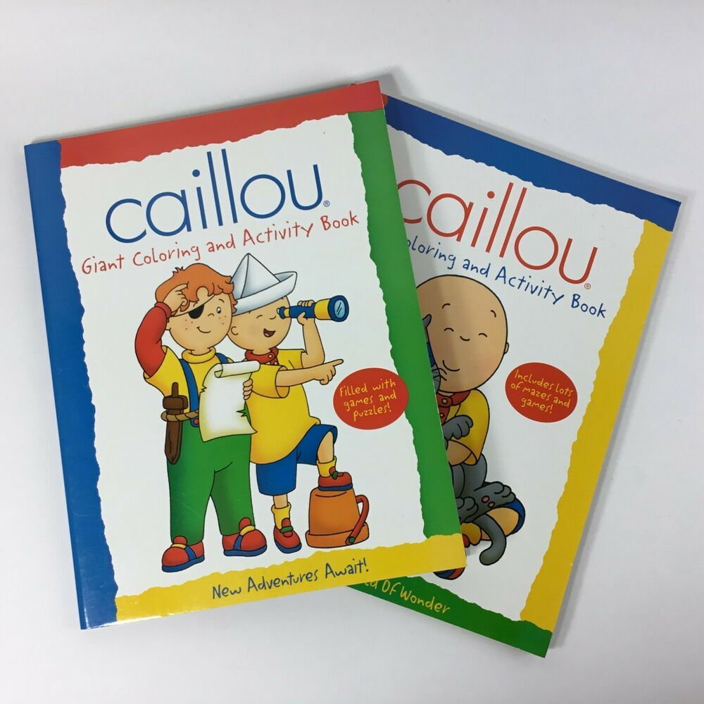Pbs Kids Caillou Giant Coloring Activity Books Lot Of 2 In 2020 Color Activities Book Activities Pbs Kids