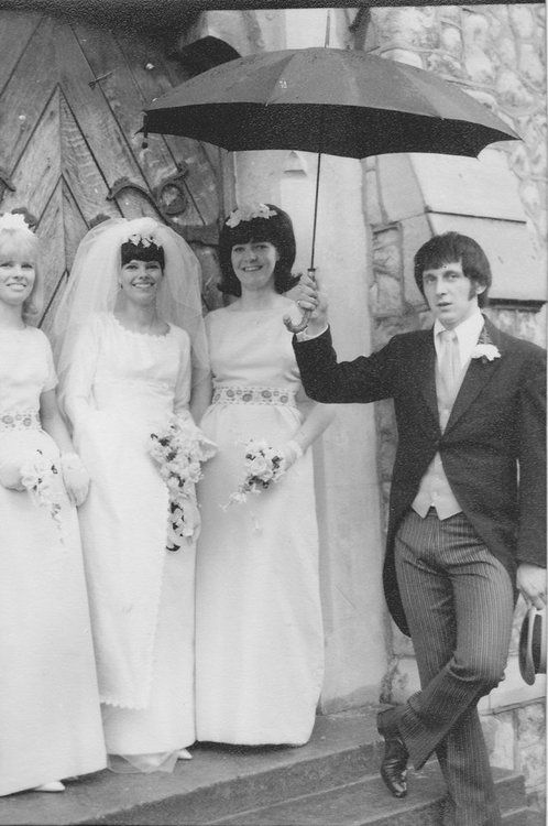 John Entwistle at his wedding to his first wife, Alison Wise. <3