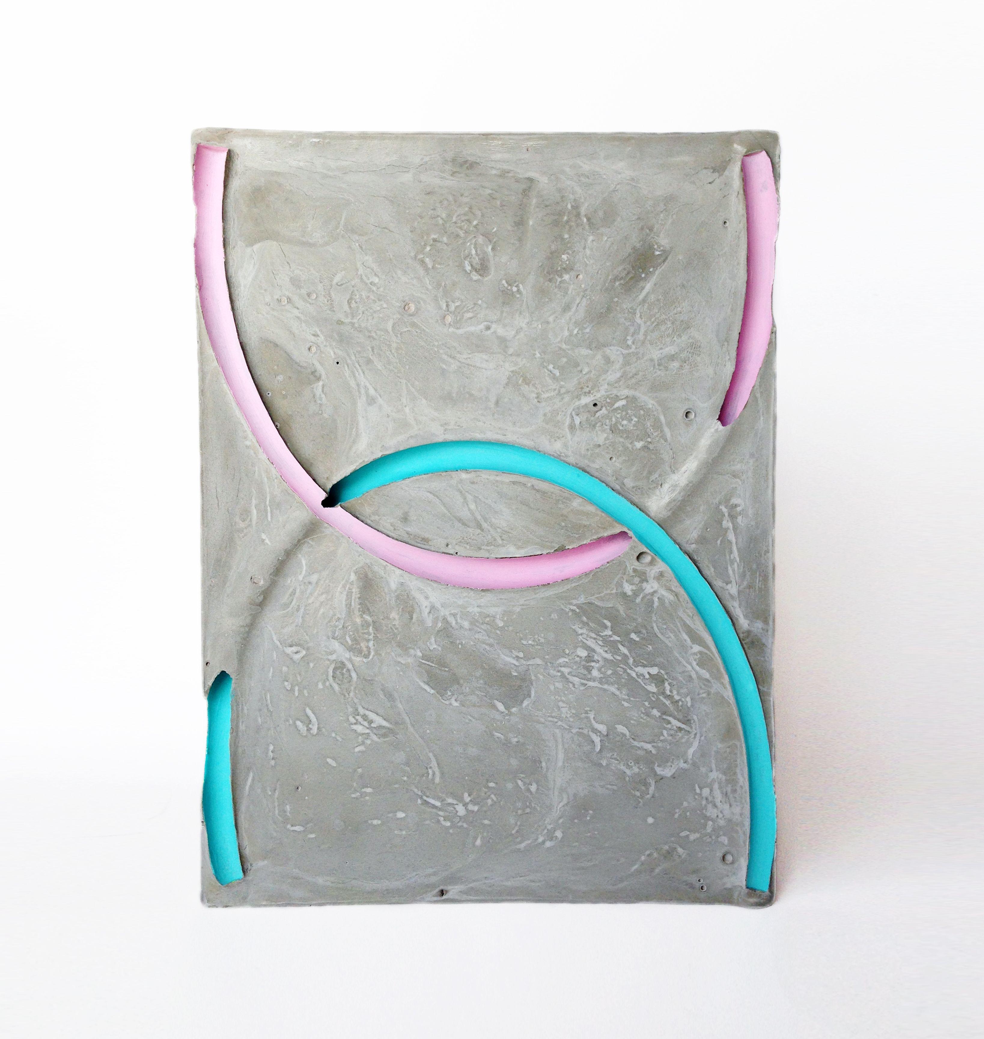 Minha primeira obra de arte: A cor do vazio. Concreto e acrílico. Florianópolis 2013 Joelson Bugila