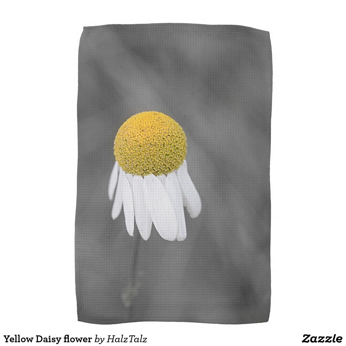 Yellow Daisy Flower Tea Towel Flower Tea Towels And Kitchens