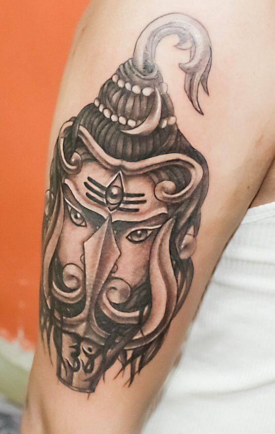 Lord Siva Tattoo Design On Men Shoulder Tattoo Images Shiva