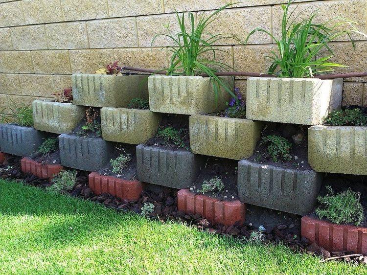 Pflanzringe Beton pflanzringe beton setzen gartengestaltung rechteckig abgerundet