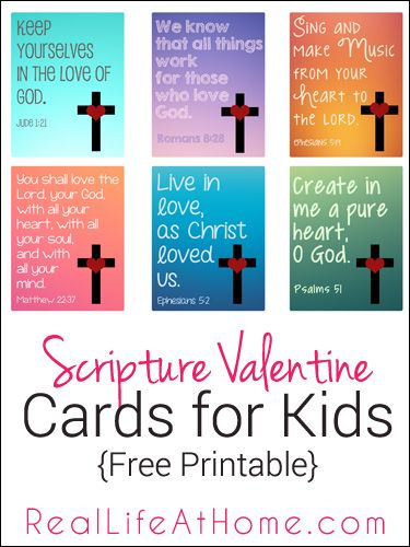 Religious Valentine Cards for Kids Free Printable  Free