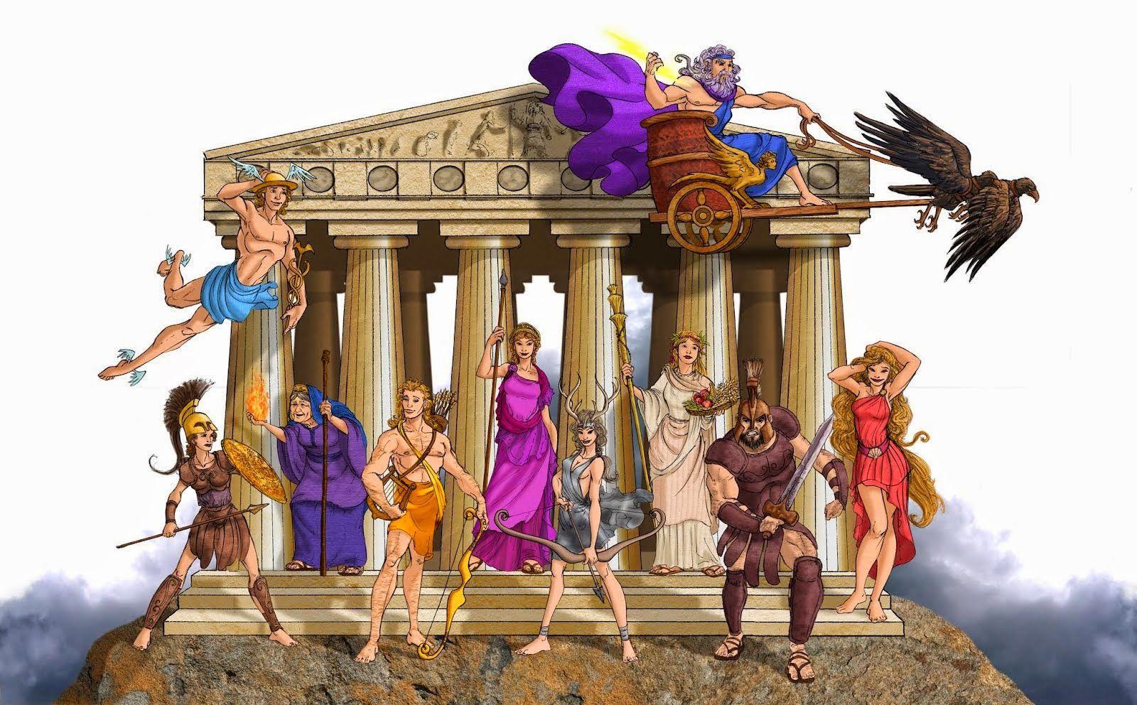 эффектно боги олимпа рисунки этой