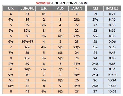 shoe size in cm chart: Image result for shoe size guide beginner running pinterest