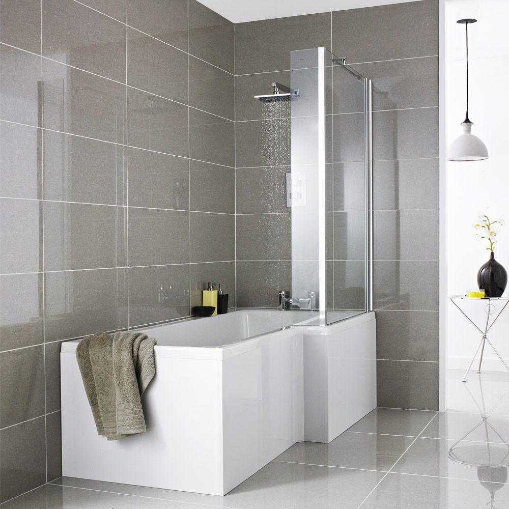Shower Bath L Shaped premier 1500 l-shaped shower bath rh with acrylic front panel +