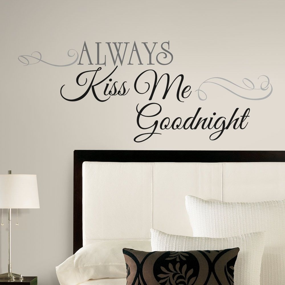 New Large ALWAYS KISS ME GOODNIGHT WALL DECALS Bedroom Stickers Deco Home  Decor #RoomMates # Part 27