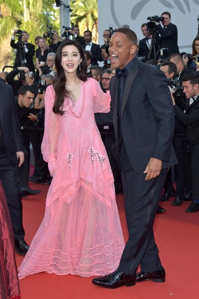 c01dd6578f8 Jury member Fan Bingbing and Will Smith attend the 70th Anniversary of the 70th  annual Cannes Film Festival at Palais des Festivals on May 23