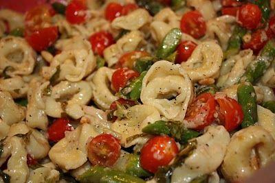 Tortellini Salad with Asparagus and Fresh Basil Vinaigrette
