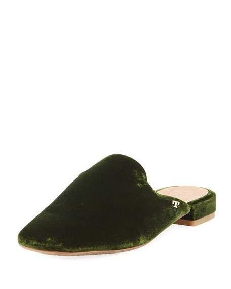 bb76fbbcb5e Carlotta Velvet Flat Mule Loafer