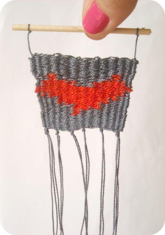 Niña Bonita:- #elretopinteretest septiembre DIY Telar - Weawing