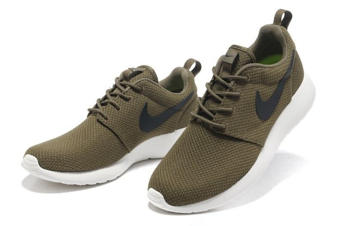 Nike Roshe Run Mens Shoes Breathable For Summer Army Green