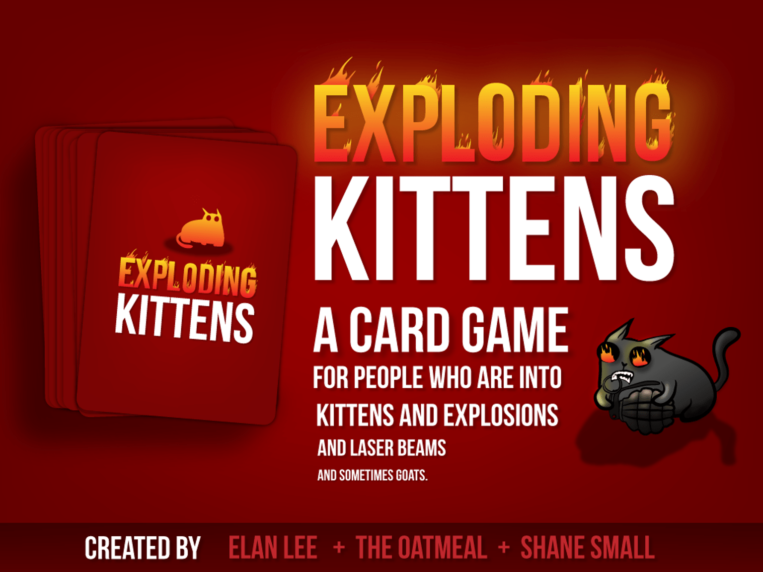 Exploding Kittens Card Game Is A Highly Strategic Kitty Powered Version Of Russian Roulette Players T Exploding Kittens Exploding Kittens Card Game Card Games