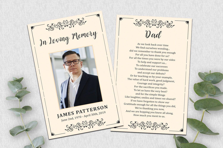 Editable Funeral Prayer Card Template Printable Memorial Etsy In 2021 Card Templates Printable Funeral Prayers Prayer Cards