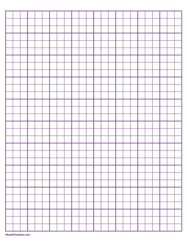 Printable 3 Squares Per Inch Purple Graph Paper For Letter Paper Free Download At Https Museprintables Com Download Letter Paper Graph Paper Printable Paper
