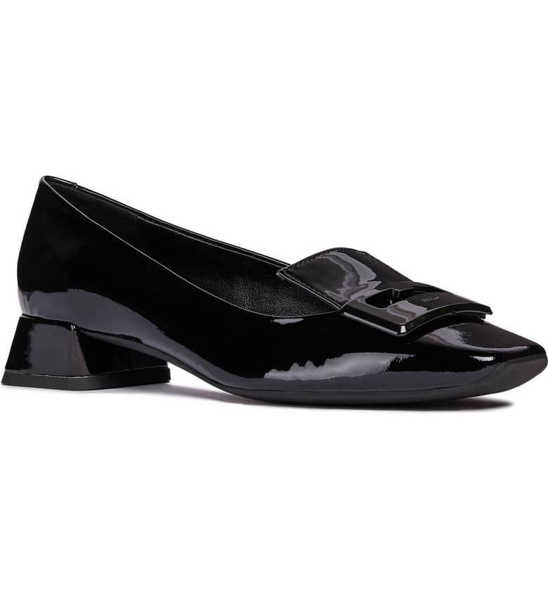 volumen Cantidad de dinero Extra  Vivyanne Square Toe Loafer Pump, Main, color, BLACK PATENT LEATHER |  Women's pumps, Loafers, Geox shoes