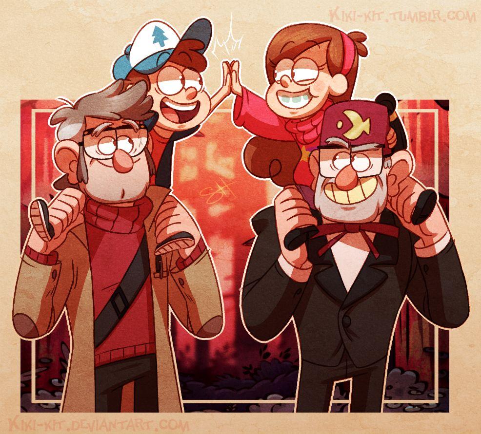 Charmant Grunkle Stan, Mabel, Dipper U0026 Great Uncle Ford U003c3