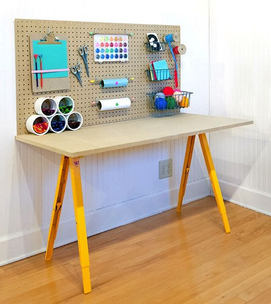 art spaces for kids kids craft room tables kids craft tables diy workbench. Black Bedroom Furniture Sets. Home Design Ideas