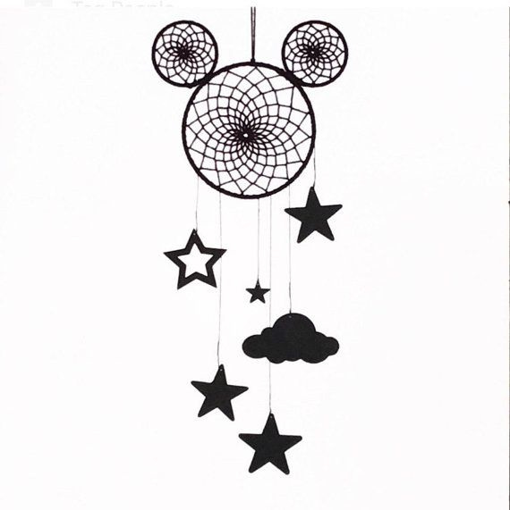 monochrome mickey minnie mouse dreamcatcher disney themed mobile disney dreamcatcher mouse. Black Bedroom Furniture Sets. Home Design Ideas
