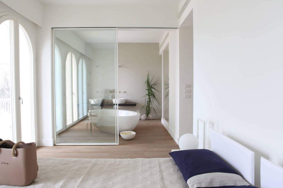 camera da letto con bagno a vista | porte scorrevoli dettagli ...