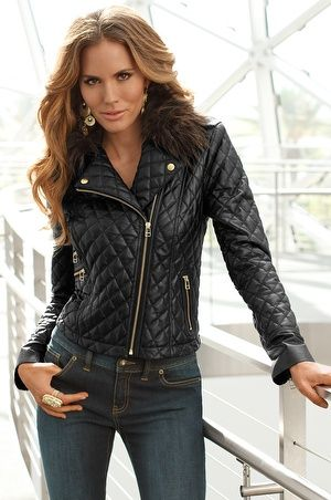 Pinterest : faux quilted leather jacket - Adamdwight.com