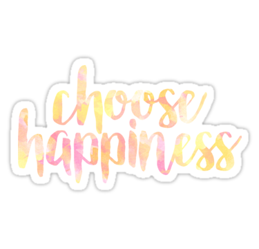 Photo of 'choose happiness stickers' Sticker by linnnna – Faith