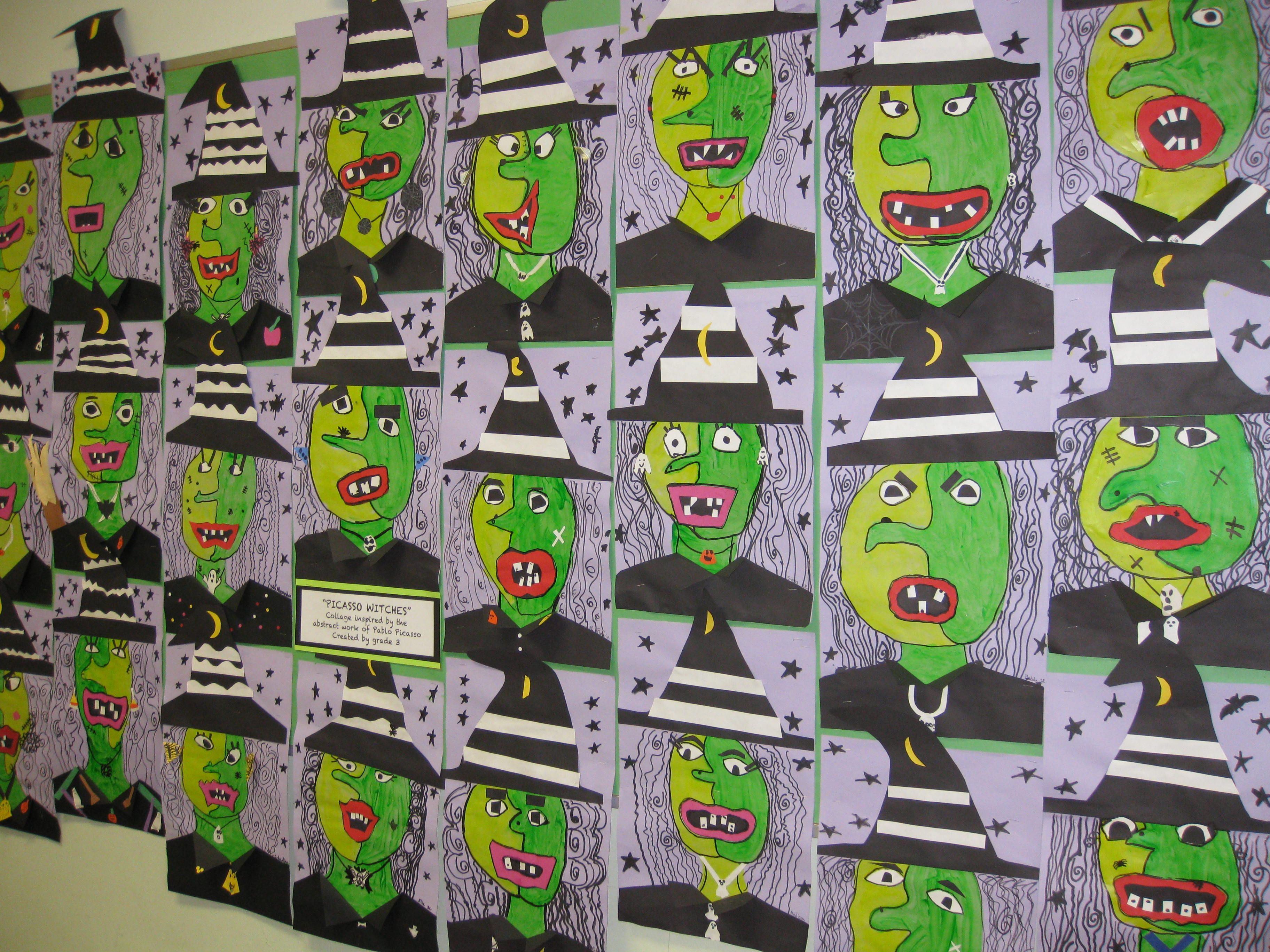 Picasso Witch Collage Gr 3