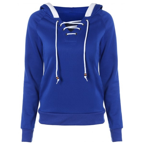 20.04$  Watch here - http://diix8.justgood.pw/go.php?t=201187105 - Lace Up Contrast Hoodie