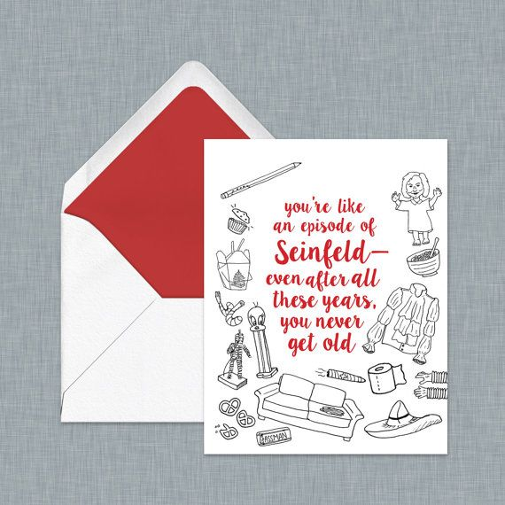 Seinfeld Birthday Card For The Ultimate Seinfeld Fan Greeting