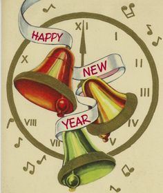 vintage happy new year banner clip art google search