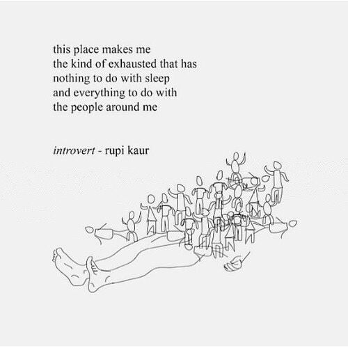 Introvert Problems Inside My Brain Quotes Rupi Kaur Rupi