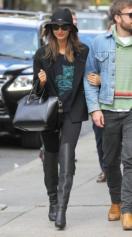 48cfb2d3905f Just Can t Get Enough  Lily Aldridge and Her Givenchy Antigona Bag ...