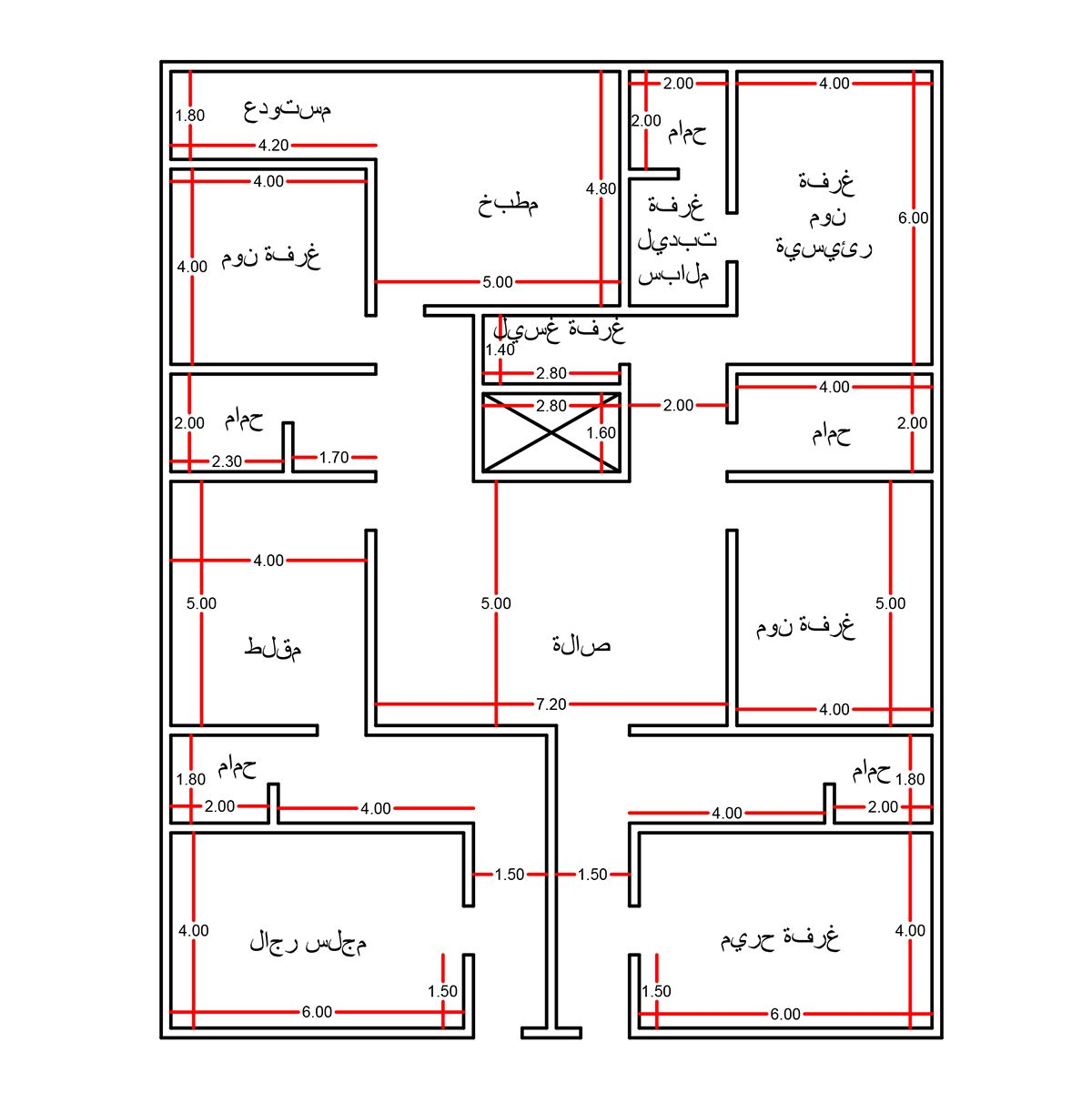 كروكي بيت House Layouts Budget House Plans House Layout Plans
