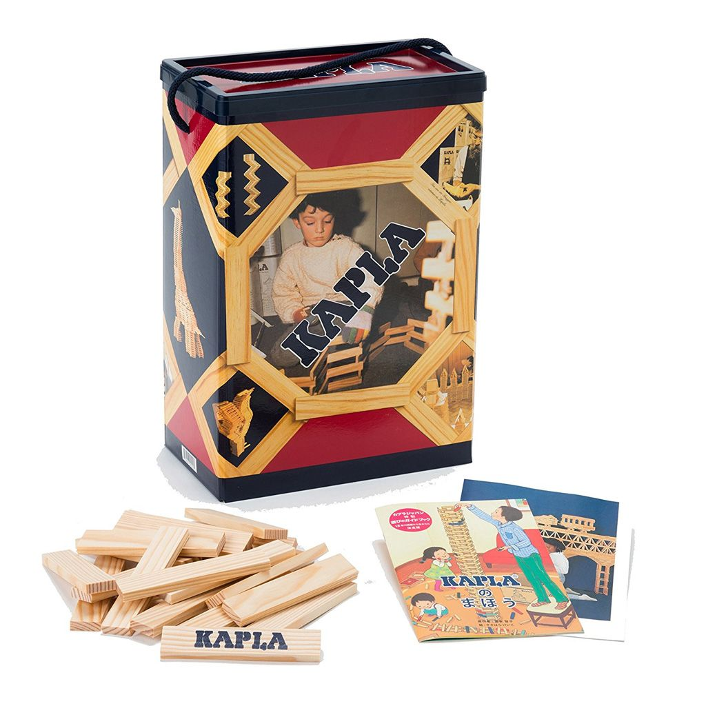 kapla 200 block set with storage box and guide book eco kids