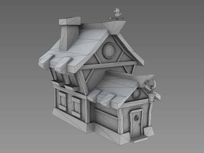how to make a low poly house in maya
